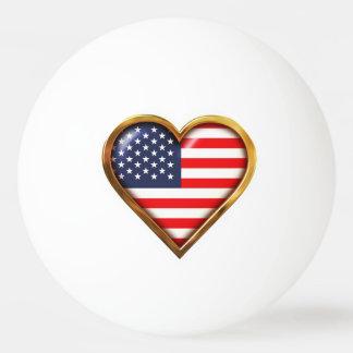 Bola Para Tênis De Mesa Coração americano