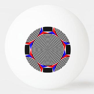 Bola Para Tênis De Mesa Radiação preta & branca