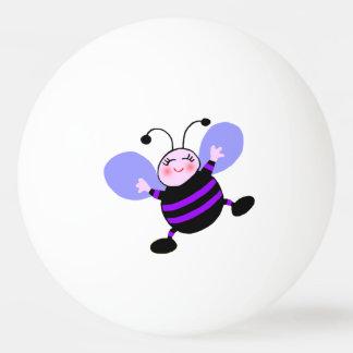 Bola roxa feliz de Pong do sibilo da abelha