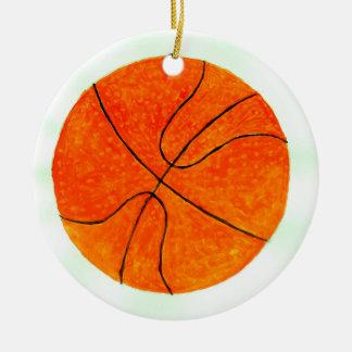 Bola Sketch3 do basquetebol Ornamento De Cerâmica Redondo