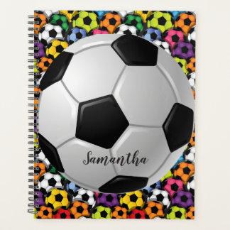 Bolas de futebol semanais/mensalmente planejador