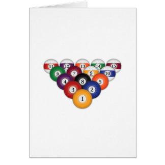 Bolas de piscina/bilhar: Cartões