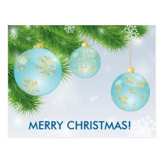 Bolas do Natal Cartão Postal
