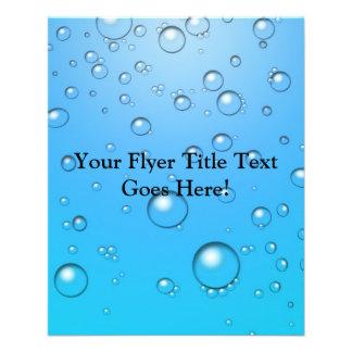 Bolhas claras água azul panfletos