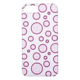 Bolhas cor-de-rosa capa iPhone 8/7
