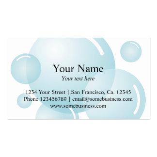 Bolhas de sabão do modelo de cartão de negócios |  cartões de visitas