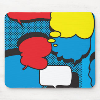 Bolhas do pensamento da banda desenhada mouse pad