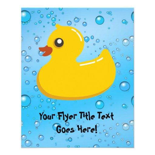 Bolhas Ducky/azuis de borracha bonitos Panfleto Personalizados