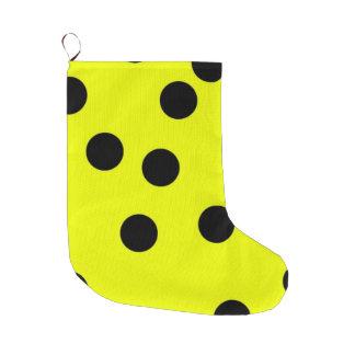 Bolinhas amarelas brilhantes meia de natal grande