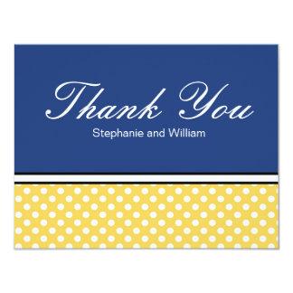Bolinhas amarelas com os cartões de agradecimentos convite 10.79 x 13.97cm