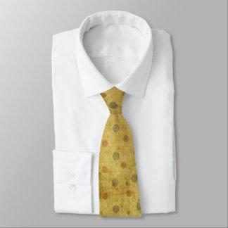 Bolinhas amarelas sujas gravata