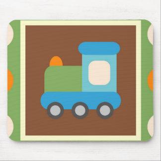 Bolinhas bonitos da laranja do verde do transporte mouse pad