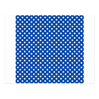 Bolinhas - branco no cobalto cartão postal