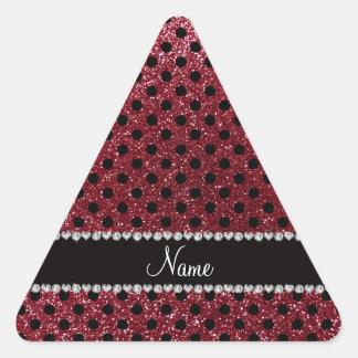 Bolinhas conhecidas feitas sob encomenda do preto adesivos em forma de triângulo