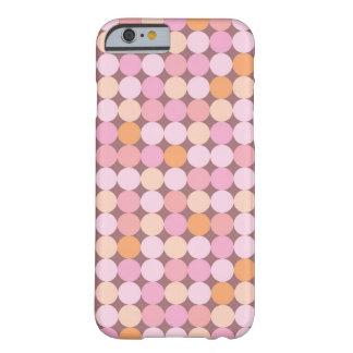 Bolinhas cor-de-rosa e alaranjadas capa barely there para iPhone 6