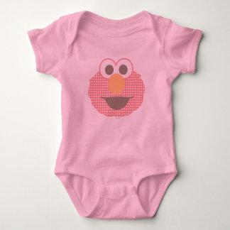 Bolinhas grandes da cara de Elmo do bebê Tshirt
