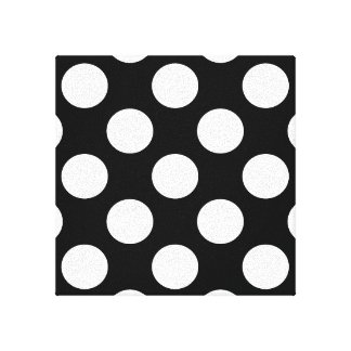 Bolinhas no preto impressão de canvas esticada
