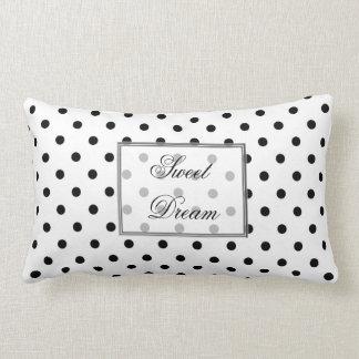 bolinhas pretas no fundo branco travesseiros de decoração