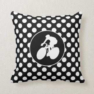 Bolinhas preto e branco; Ciclagem Travesseiros De Decoração