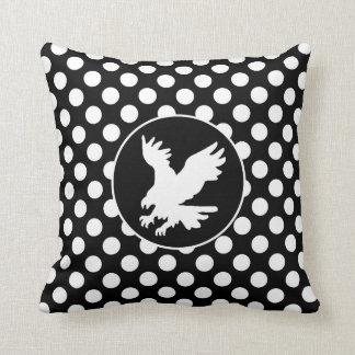 Bolinhas preto e branco; Eagle Travesseiro