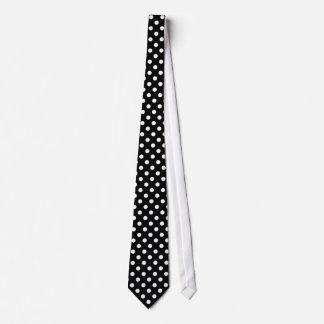 Bolinhas preto e branco gravata