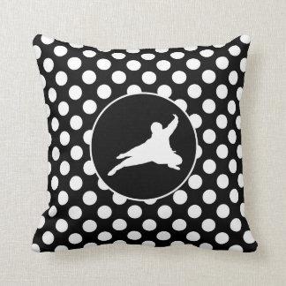 Bolinhas preto e branco; Ninja Travesseiro De Decoração