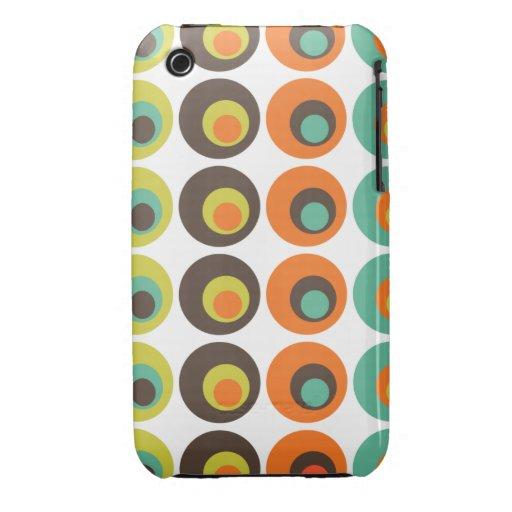 Bolinhas retros capas de iPhone 3 Case-Mate