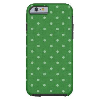 bolinhas verdes retros capa para iPhone 6 tough