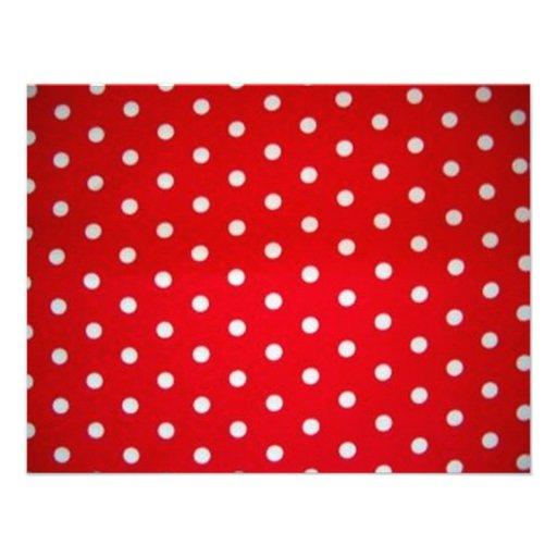 Bolinhas Vermelhas E Brancas Convites Personalizados De Zazzle Pt