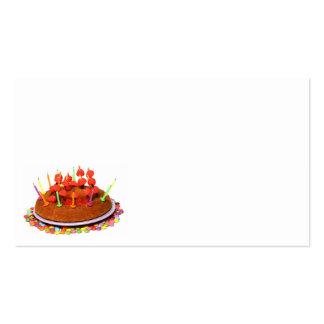 bolo de aniversário cartão de visita