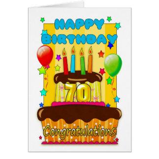 bolo de aniversário com velas - aniversário feliz cartão comemorativo