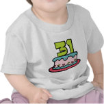 Bolo de aniversário das pessoas de 31 anos t-shirt