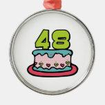 Bolo de aniversário das pessoas de 48 anos enfeites para arvores de natal