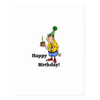 Bolo de aniversário - homem cartão postal
