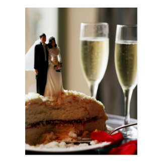 Bolo de casamento Champagne Cartão Postal