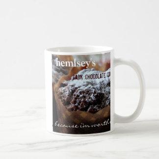 Bolo de chocolate escuro de Hemsley Caneca De Café
