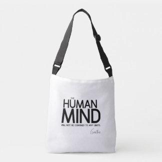Bolsa Ajustável CITAÇÕES: Goethe: Mente humana