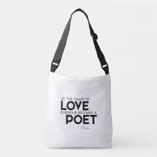Bolsa Ajustável CITAÇÕES: Plato: Toque do amor: poeta