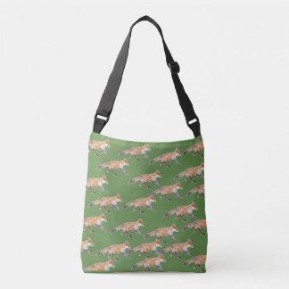 Bolsa Ajustável Das raposas verde abundante sobre a mala a