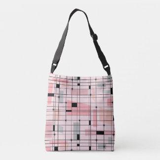 Bolsa Ajustável Grade cor-de-rosa retro e saco para o transporte