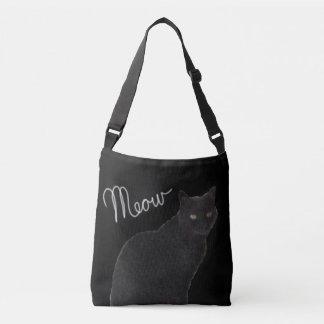 Bolsa Ajustável O saco do Meow do gato preto