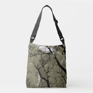 Bolsa Ajustável Sacola abstrata da lua da árvore do Taupe