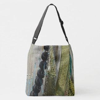 Bolsa Ajustável sacola abstrata das redes de pesca da praia