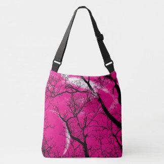 Bolsa Ajustável sacola da lua da árvore do abstrato do rosa quente