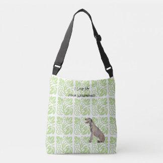 Bolsa Ajustável Wolfhound irlandês e impressão verde [MED.]