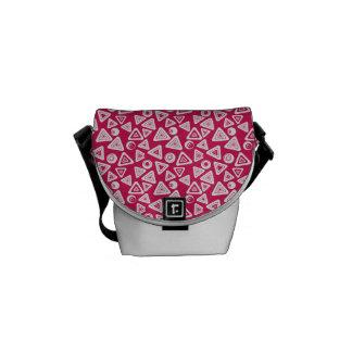 Bolsa Carteiro A bolsa mensageiro retro cor-de-rosa Funky