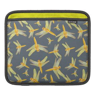 Bolsa De iPad Impressão do amarelo e das libélulas do ouro