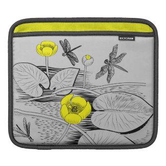 Bolsa De iPad Lírios de água que gravam