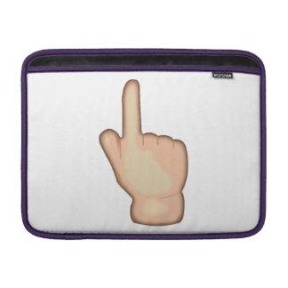 Bolsa De MacBook Air Acima de apontar o índice dos revés - Emoji
