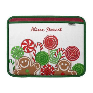 Bolsa De MacBook Pão-de-espécie vermelhos na moda do Natal